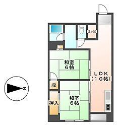 主税ビル[5階]の間取り