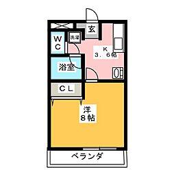 カーサ柳生園[3階]の間取り