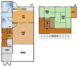 [テラスハウス] 兵庫県神戸市須磨区離宮西町2丁目 の賃貸【/】の間取り