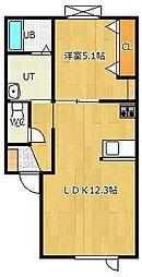 高栄東町新築物件[1-D号室]の間取り