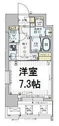 ワールドアイ大阪ドームシティ 4階1Kの間取り