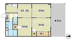兵庫県姫路市飾磨区都倉3丁目の賃貸マンションの間取り
