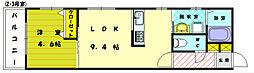 ヒルサイドテラス[1階]の間取り