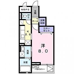 ライル2[3階]の間取り