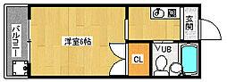 京都府京都市西京区山田出口町の賃貸アパートの間取り