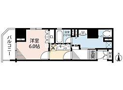 リーガル南船場III 6階1Kの間取り