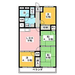 グレイスハイツ子平町[4階]の間取り