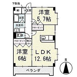 スカイビレッジ 3階[301号室]の間取り