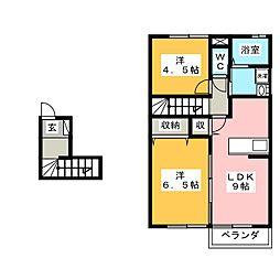 タカダハイツ[2階]の間取り