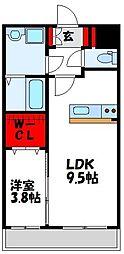 SAKURA FORET[4階]の間取り