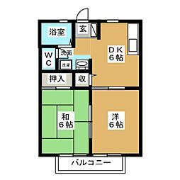 シャンボール[2階]の間取り