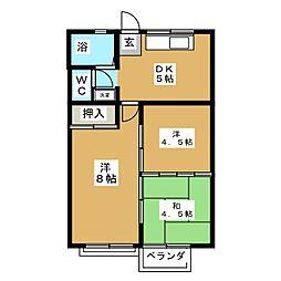 セラブールハガ2番館[2階]の間取り