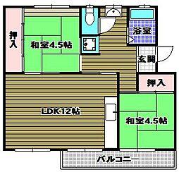 公団狭山住宅7号棟[3階]の間取り
