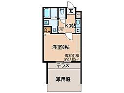 京都府京都市伏見区東柳町の賃貸マンションの間取り