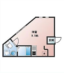 HESTIN HIGASHIAZABU[3階]の間取り