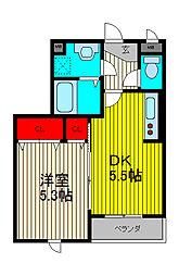 SAMIA川口元郷[3階]の間取り