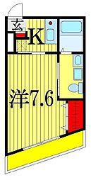 千葉県船橋市前原東5丁目の賃貸アパートの間取り