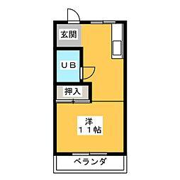 浜崎ハイツ[1階]の間取り