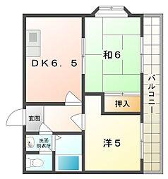 Kプラザ金田[4階]の間取り