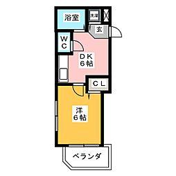 トーノ第一ビル[4階]の間取り