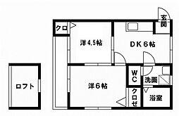 MHハウスI[205号室]の間取り