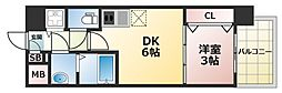 オリエンテム 6階1DKの間取り