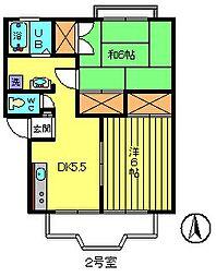 アーバンホームアラタ[1階]の間取り
