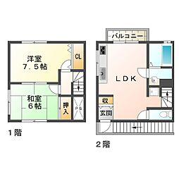 [一戸建] 兵庫県神戸市垂水区泉が丘2丁目 の賃貸【/】の間取り