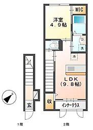 LUMINOUS[2階]の間取り
