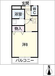 カレッジハウス A棟[1階]の間取り
