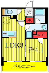 プレミスト板橋 10階1LDKの間取り