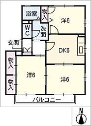 ラベンダーハウス[1階]の間取り