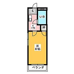 ベストハイツ三ツ井[2階]の間取り