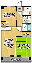 アサヒハイツ東葛西[2階]の間取り