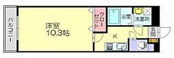 福岡県糟屋郡志免町南里6丁目の賃貸アパートの間取り