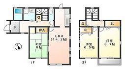 [一戸建] 兵庫県神戸市西区水谷2丁目 の賃貸【兵庫県 / 神戸市西区】の間取り