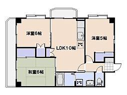 広島県広島市西区井口鈴が台1丁目の賃貸マンションの間取り