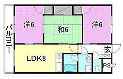 キャステール枝松[703 号室号室]の間取り