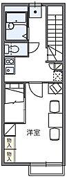 レオパレスプレミール[2階]の間取り