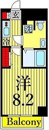 東京メトロ日比谷線 三ノ輪駅 徒歩2分の賃貸マンション 3階1Kの間取り