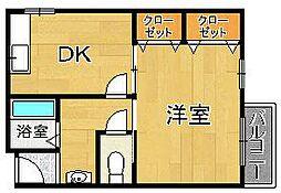 Mハイツ[3階]の間取り