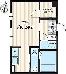 東京メトロ有楽町線 小竹向原駅 徒歩11分の賃貸マンション 3階1Kの間取り