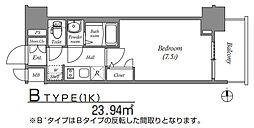 ファステートNANBAWESTディオン[6階]の間取り