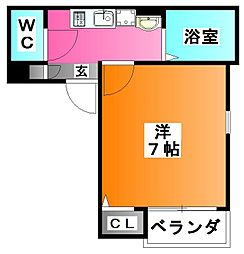 Grotta blu KOMAGOME[3階]の間取り