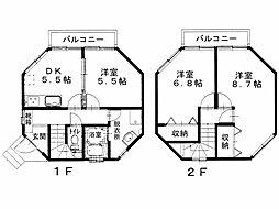 [タウンハウス] 香川県観音寺市本大町 の賃貸【/】の間取り