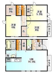 [一戸建] 神奈川県小田原市酒匂5丁目 の賃貸【/】の間取り