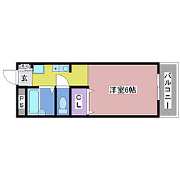 ユニックス神戸西[1階]の間取り