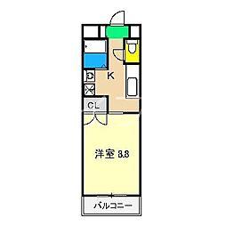 メゾン・フローラ[2階]の間取り