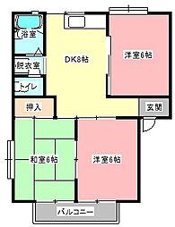 メゾン・ド・ボヌール[2階]の間取り
