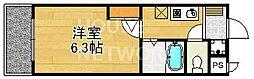 ハイポジション銀閣寺[302号室号室]の間取り